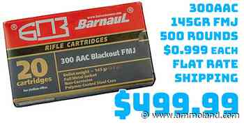 Ammo InStock: Barnaul Ammo 300AAC 500Rd Case 145Gr FMJ $499.99 Flat Rate Shipping - AmmoLand Shooting Sports News