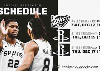 PRESEASON SAN ANTONIO SPURS GAMES TO BE BROADCAST LOCALLY ON FOX SPORTS SOUTHWEST AND KMYS-TV