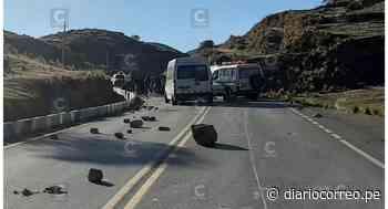 Con bloqueo de carretera en Huaricolca - Tarma transportistas protestan contra la Sutran - Diario Correo
