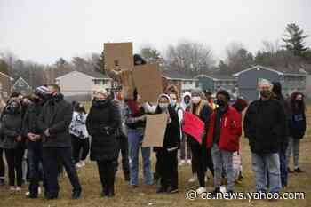 """Oromocto students walk out of classes to protest """"daily"""" acts of racism - Yahoo News Canada"""