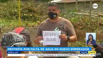 Moradores de Nuevo Emperador en Arraiján protestan por falta de agua - TVN Noticias