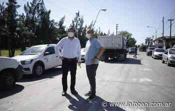 Valenzuela y Moreira recorrieron obra conjunta en el límite en Villa Bosch - InfoBan