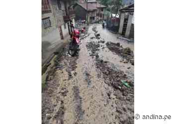 Áncash: lluvia torrencial afecta viviendas, cultivos y vías en Pomabamba - Agencia Andina