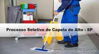 Processo Seletivo Prefeitura de Capela do Alto – SP: Inscrições Abertas - DIARIO OFICIAL DF - DODF CONCURSOS