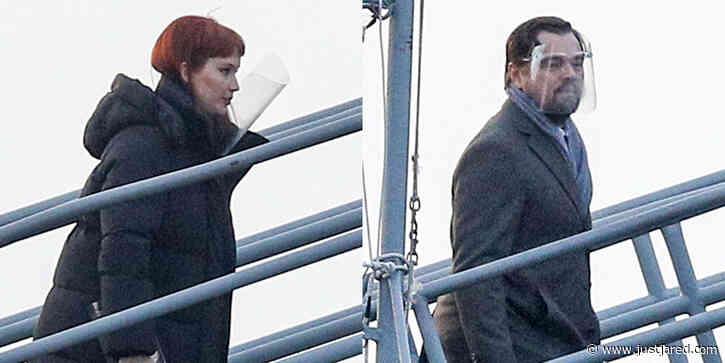 Jennifer Lawrence & Leonardo DiCaprio Board a Naval Battleship for 'Don't Look Up' Movie