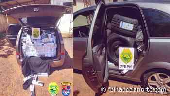 Policiais Militares apreendem veículo carregado com contrabando em Tapira - Folha De Cianorte