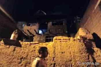 Tarma: dos niños mueren carbonizados en voraz incendio que consumió su vivienda - Agencia Andina