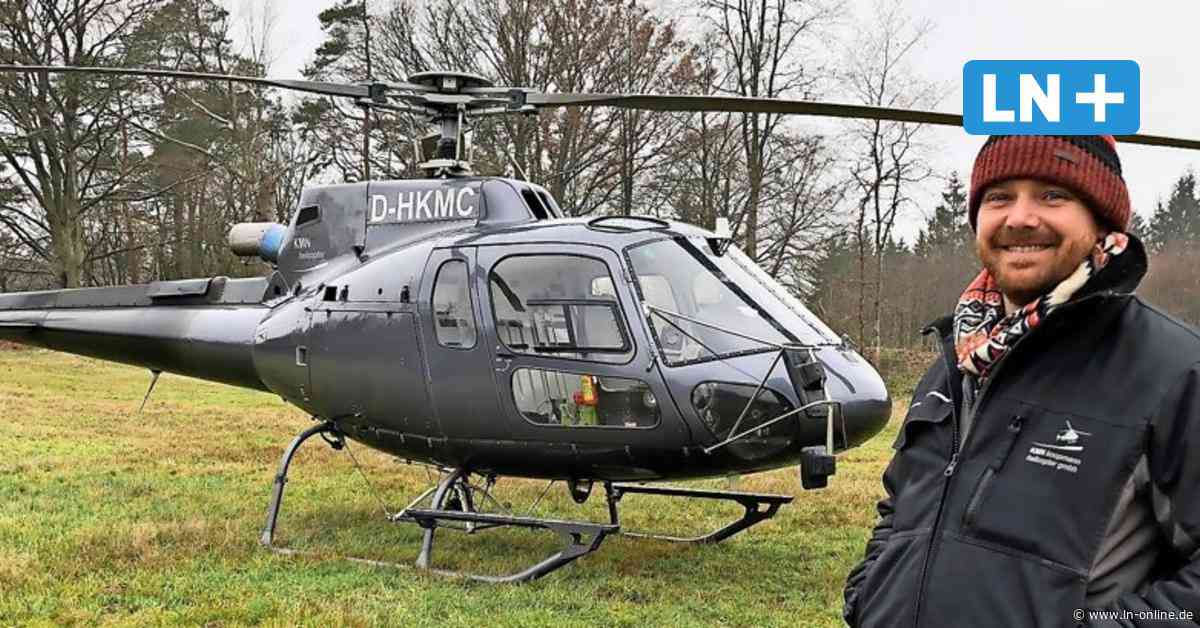Forstkalkung bei Wahlstedt: Helikopter mit Riesen-Kalkstreuer unterwegs - Lübecker Nachrichten