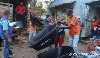 En María La Baja- Bolívar comunidades reciben insumos agropecuarios - Caracol Radio