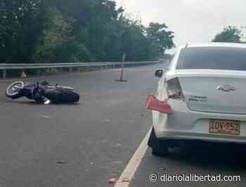 Accidente de tránsito deja dos heridos en la vía San Pelayo Lorica - Diario La Libertad