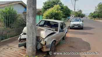 Acidente deixa vítima na rua Pedro Bambini em Espumoso - Acontece no RS