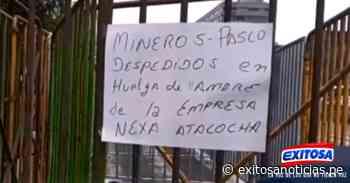 Trabajadores mineros de Cerro de Pasco continúan en huelga de hambre en los exteriores del Congreso - exitosanoticias