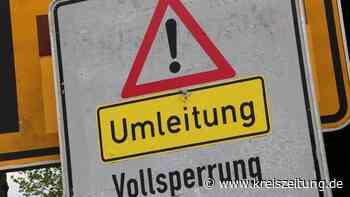 Vollsperrung der Weserbrücke Stolzenau am Freitag - kreiszeitung.de