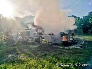 Helicóptero cae sobre camión y causa explosión en Changuinola, hay un herido - TVN Noticias