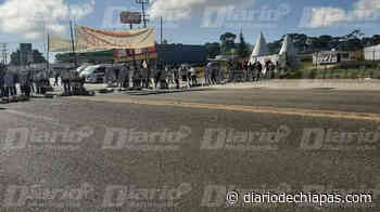 Bloqueo en crucero Lagos de Montebello-La Trinitaria - Diario de Chiapas