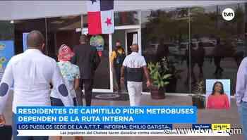Residentes de Caimitillo piden que el metrobús llegue a su comunidad - TVN Panamá