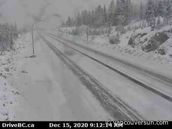 Winter storm to hit Coquihalla Highway Tuesday