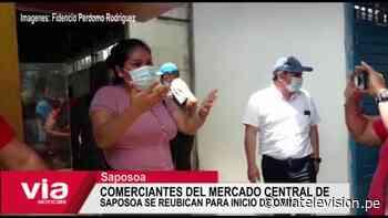 Comerciantes del mercado central de Saposoa se reubican para inicio de obra - VIA Televisión