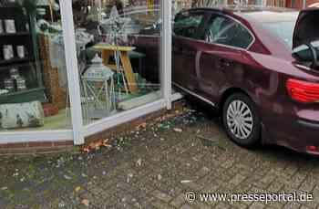 POL-CE: Lachendorf - Beim Einparken von der Bremse gerutscht +++ Autofahrer demoliert Schaufenster - Presseportal.de