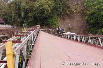Inicia la reparación del puente sobre la quebrada Iglesia en Cerro Punta - En Segundos