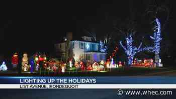 Lighting up the Holidays: Hopkins family on List Avenue