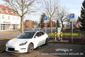 EnviaM errichtet Elektroladesäule in Kolkwitz - Niederlausitz Aktuell - NIEDERLAUSITZ aktuell