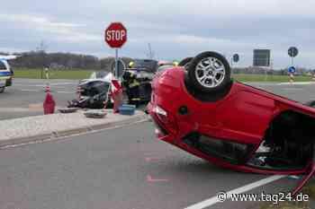 Auto überschlägt sich: Drei Verletzte bei Unfall in Brandis - TAG24