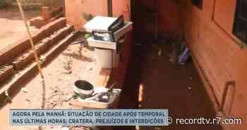 Temporal em Guariba deixa crateras, prejuízos e interdições - Record TV