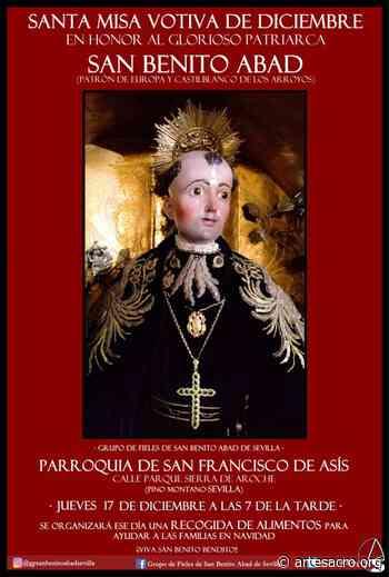 Hoy, santa Misa votiva de diciembre en honor a San Benito Abad y recogida de alimentos - Arte Sacro