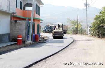 Pavimenta SOP con concreto asfáltico camino a Pacú, en Suchiapa - ChiapasHoy