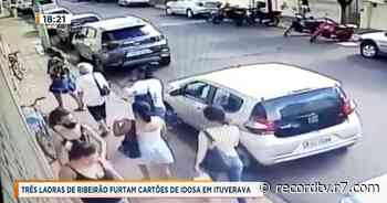 Três ladras de Ribeirão furtam cartões de idosa em Ituverava - Record TV