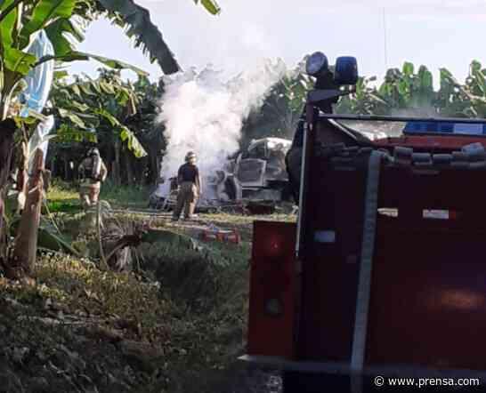 Helicóptero cae y provoca una explosión en Changuinola - La Prensa Panamá