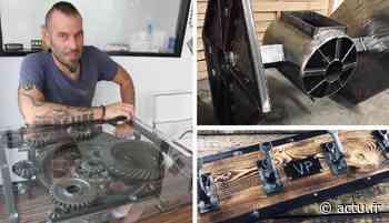 Val-d'Oise. Idées cadeaux à Magny-en-Vexin : du mobilier d'art réalisé avec des pièces détachées automobiles - La Gazette du Val d'Oise - L'Echo Régional