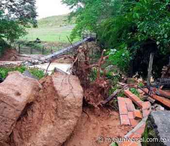 Lluvias tumban un puente en Simití - El Universal - Colombia