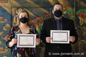 Fatima Daudt e Márcio Lüders são diplomados pela Justiça Eleitoral - Jornal NH