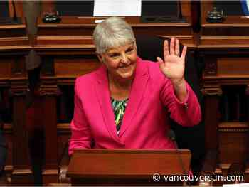 Carole James, former B.C. finance minister, says she was driven to give back