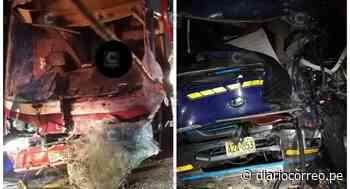 Chofer muere al quedar atrapado en choque de bus y camión en Carretera Central (FOTOS) - Diario Correo