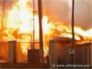 Una vivienda es consumida por un incendio en Itapúa - ÚltimaHora.com