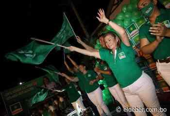 María Arias, candidata a la Alcaldía de Portachuelo por Demócratas - EL DEBER