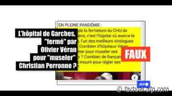 """Non, l'hôpital de Garches ne va pas """"fermer"""" pour """"museler"""" le professeur Perronne - AFP Factuel"""