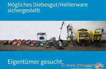POL-KN: (Scheidegg/Lindau/Bodenseekreis) Mutmaßliches Diebesgut sichergestellt - Wer kann Hinweise auf den... - Presseportal.de