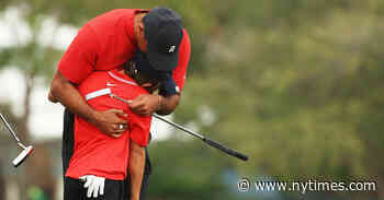 Tiger Woods Mixes Golf and Family Once Again