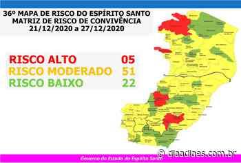 Mapa de Risco: Vargem Alta, Afonso Cláudio e Alfredo Chaves vão para o risco alto - Dia a Dia Espírito Santo