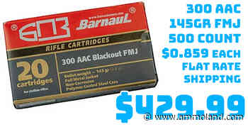 Ammo InStock: Barnaul Ammo 300AAC 500Rd Case 145Gr FMJ $429.99 Flat Rate Shipping - AmmoLand Shooting Sports News