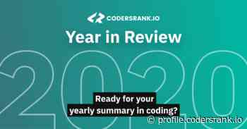 2020 Year in Review by CodersRank