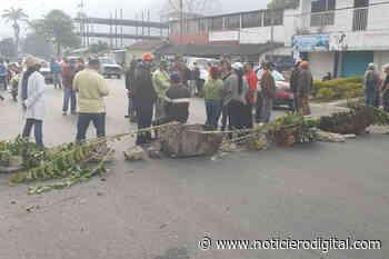 Trancan nuevamente carretera en Caripe por la escasez de gasolina - Noticiero Digital