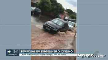 Temporal provoca alagamentos na região central de Engenheiro Coelho; veja vídeo - G1