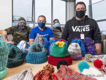 Men in Surrey treatment and recovery centre learn how to knit together