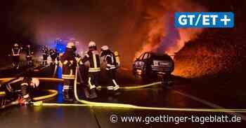Einsatz für Feuerwehr Hardegsen: Pkw steht auf B 241 in Flammen - Göttinger Tageblatt