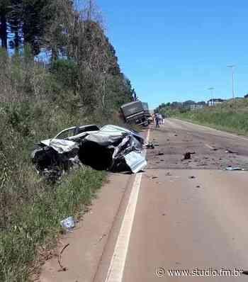 Condutor morre em colisão frontal em Sananduva   Rádio Studio 87.7 FM   Studio TV - Rádio Studio 87.7 FM